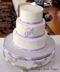 wedding cake lavender shockley s sweet shoppe white buttercream lavender wedding cake