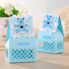 baby shower guest gifts pink and blue baby favors boxes baptism bombonieres favors