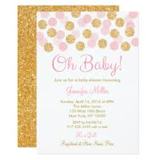 pink and gold baby shower invitations gangcraft net