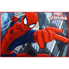 Superhero Rug Marvel Spiderman Heat Transfer Rug Multi Color 3 U002710