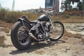 harley knucklehead custom by old gold garage co moto rivista