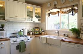 burlap curtains in kitchen traditional with farm sink next to ikea