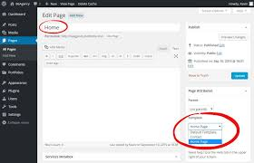 setting static front page u0026 posts page betheme documentation