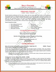 Kindergarten Teacher Resume Sample by Preschool Teacher Resume Sample Goals Of Early Childhood Education