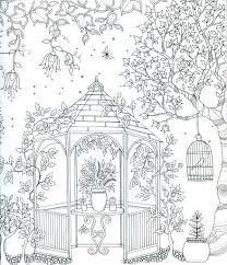 coloring book pages secret garden coloring