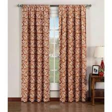 Rust Colored Curtains Orange Curtains U0026 Drapes Window Treatments The Home Depot