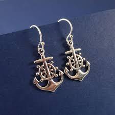 anchor earrings otis b jewelry wheel anchor earrings