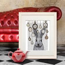 alice in wonderland print alice in wonderland print rabbit time canvas prints art