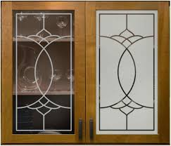 Sandblasting Kitchen Cabinet Doors Faux Leaded 01 Left Positive Sandblast Right Negative