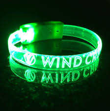 Customized Gold Bracelets Custom Led Wristbands Personalized Custom Light Up Optical