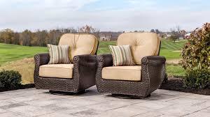 4 piece patio furniture sets breckenridge tan 4 pc patio furniture set swivel rockers sofa