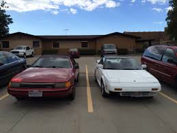 old parked cars 1986 jeep 1987 toyota celica convertible and 1986 toyota mr2 old car hunt