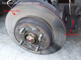 honda civic rotors repairing the brake rotor disc honda civic