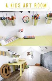 Kids Art Room by To Get Easels Into This Small Studio I Mounted Old Easel Panels
