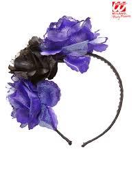 fiori viola cerchietto fiori viola neri accessori e vestiti di carnevale