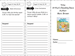 Drawing Conclusions Worksheets 4th Grade Arthur U0027s Reading Race Comprehension Skills 2nd 4th Grade