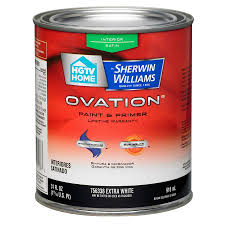 shop hgtv home by sherwin williams ovation extra white satin latex