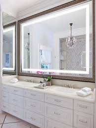 Bathrooms With White Cabinets Large Bathroom Mirror Houzz