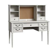 Girls White Desk With Hutch by Zoey Storage Desk Vintage Simply White Furniture U003e Desks