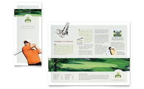 golf course u0026 instruction tri fold brochure template word