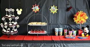 Mickey Mouse Ideas Mickey Mouse Party Diy Mickey Mouse Table
