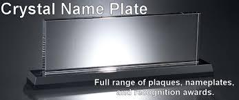 etched glass desk name plates custom glass desk name plates creative desk decoration