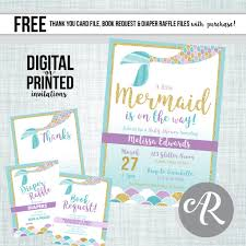 mermaid baby shower invitations mermaid baby shower invitation abbyreese design