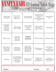 Vanities Monologue 2015 Oscars Bingo Cards Photos Vanity Fair