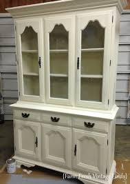 Hutch 3 Annie Sloan Old White Painted Hutch Farm Fresh Vintage Finds