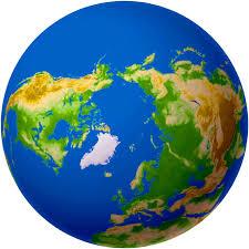 world map globe image arctic map pole