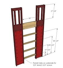 Plans Build Bunk Bed Ladder by Ana White Fire Station Loft Bed Diy Projects