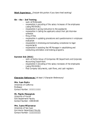 Sample Resume Character Reference by Sample Resume For Rotc Aspiring Officers