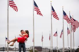 Washington Dc Flag Engagement Photographs At The National Mall In Washington D C