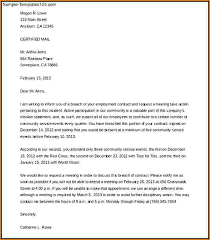 breach of contract letter template letter of termination template
