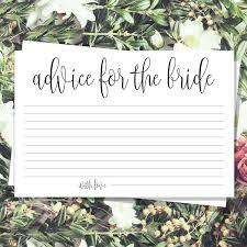 printable bridal shower advice cards bridal games bridal brunch