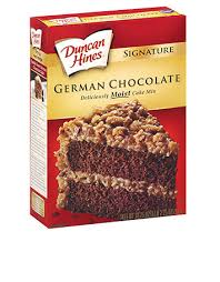 signature german chocolate cake mix duncan hines