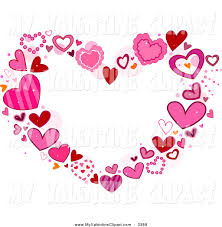 valentine clipart of a heart frame of pink hearts by bnp design