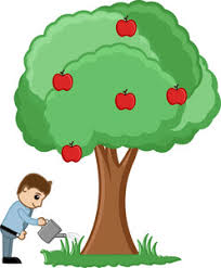 watering a tree vector royalty free stock image storyblocks