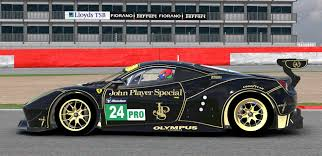 john player special livery ferrari 488 jps by don craig trading paints