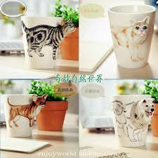 ceramic animal shaped cup coffee mug nice dog shape 3d cat milk