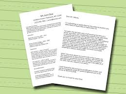 How Do I Do A Cover Letter For A Resume 4 Ways To Start A Cover Letter Wikihow