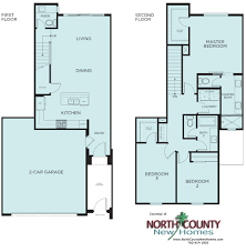townhomes floor plans brisas at pacific ridge new townhomes in oceanside