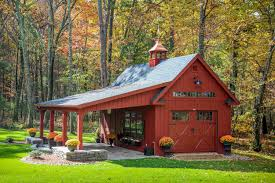 Barn Style Garage by Lean To Overhangs The Barn Yard U0026 Great Country Garages