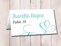 Table Card Template by Heart Wedding Place Card Template Download Escort Card