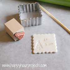 polymer clay gift tags i think i would rather do initials