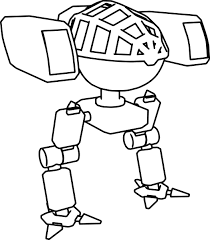 robot mech character coloring page wecoloringpage