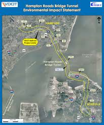 Norfolk Virginia Map by Interstate 64 Hampton Roads Bridge Tunnel Study Corridor From I