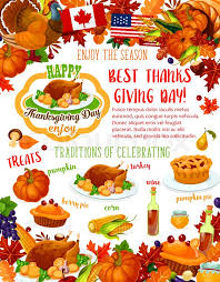 thanksgiving day banner of fall harvest celebration template