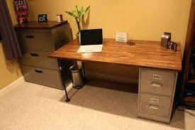 Computer Desk With File Cabinet Desk With File Cabinet Diy Desk File Cabinets Justproduct Co