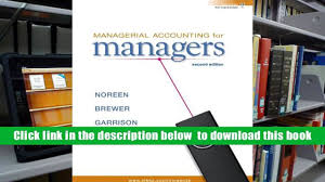 read online managerial accounting for managers eric noreen trial